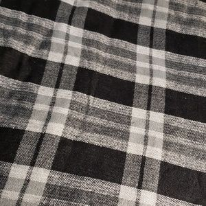 Steve Madden oversized scarf. Plaid and polka dots